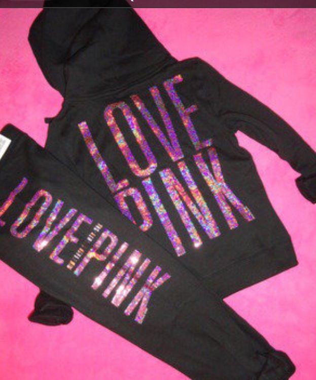 cf7cf0541b4c Pink sequin jogging suit   Victoria secret