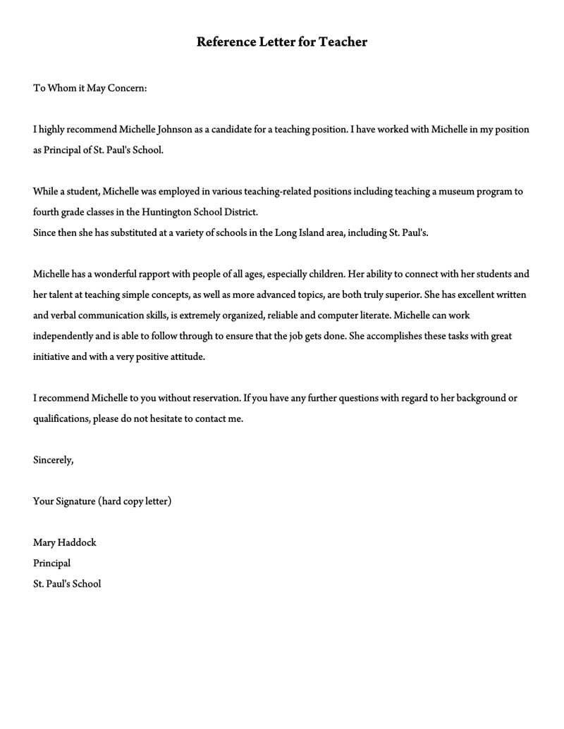 Recommendation Letter For Teacher Assistant Ten Easy Rules Of Recommendation Letter For Te Letter To Teacher Teacher Letter Of Recommendation Reference Letter