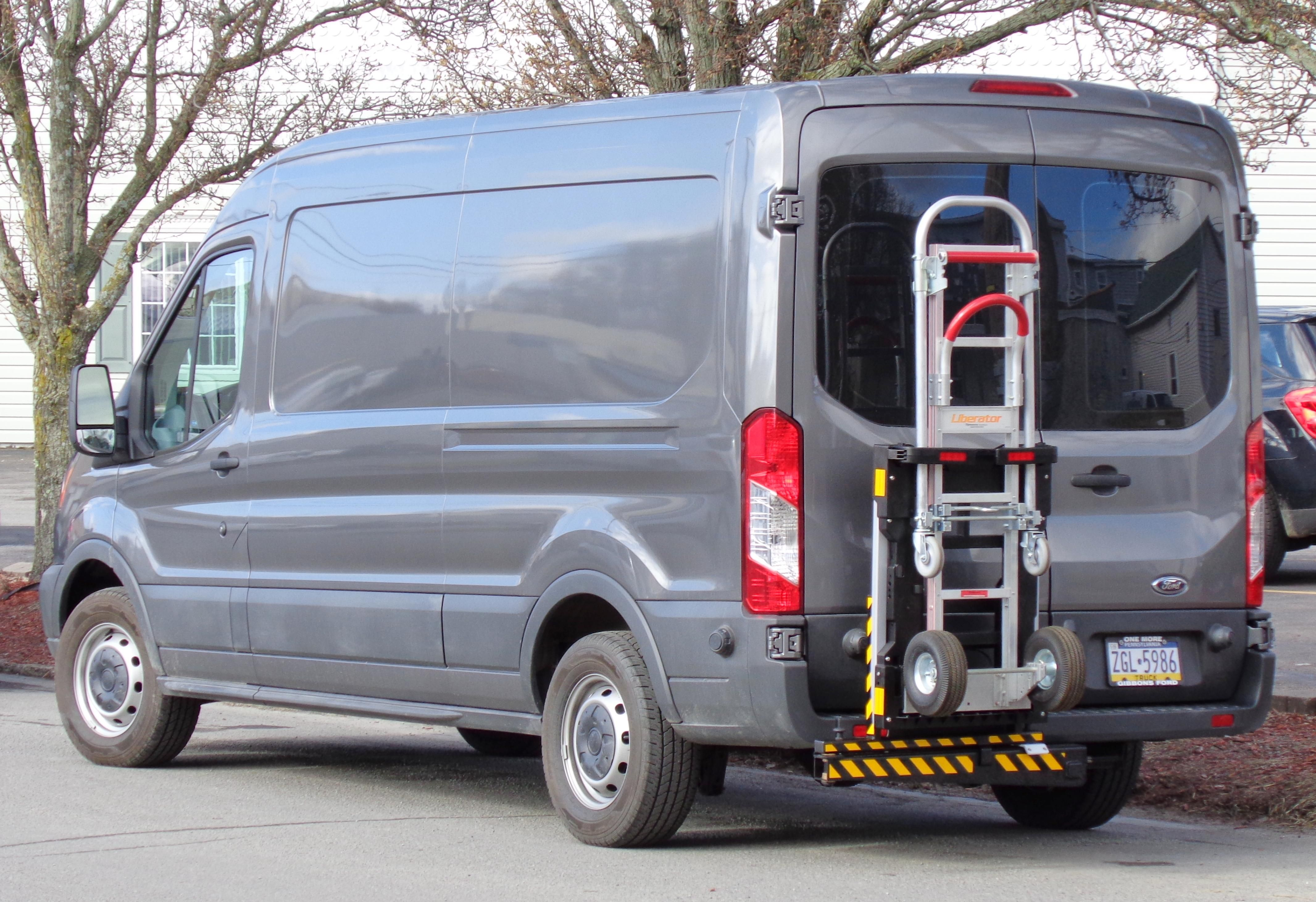 Ford transit 250 commercial cargo delivery van equipped