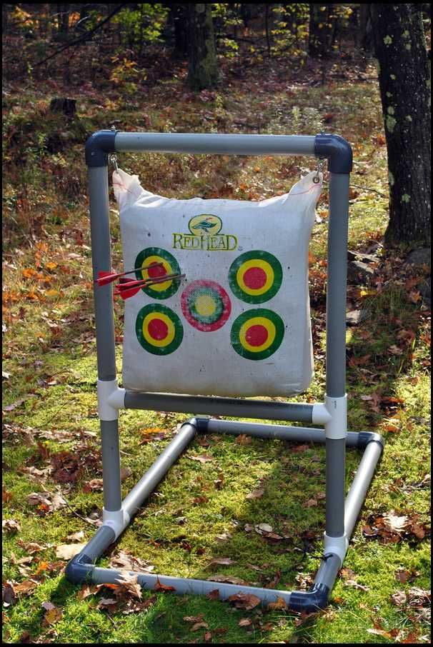 Pvc archery target stand car tuning tir l 39 arc for Pvc pipe bow plans