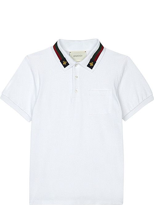 dd00af39ab GUCCI Bee stripe cotton polo shirt 4-12 years | Galan Monroe Graylin ...