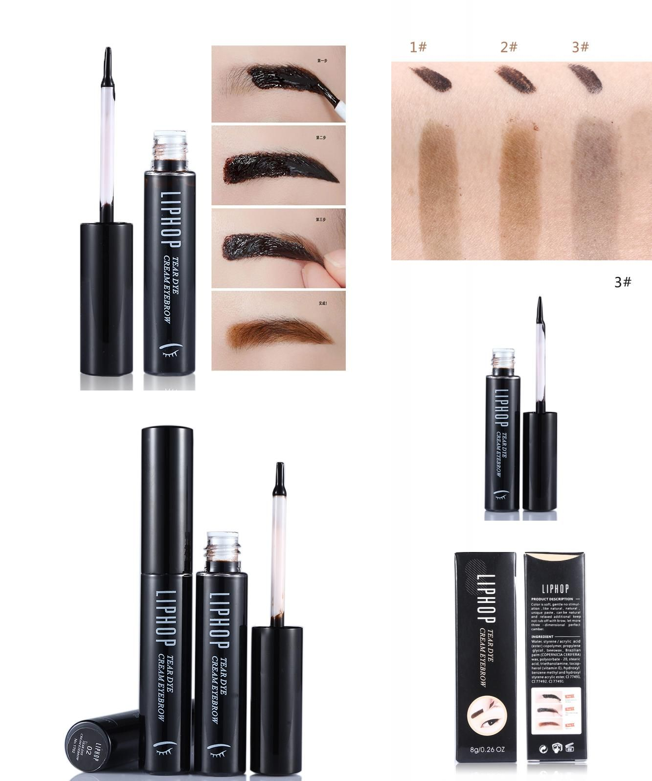 [Visit to Buy] Liphop New Style Tattoo Eyebrow Gel Super