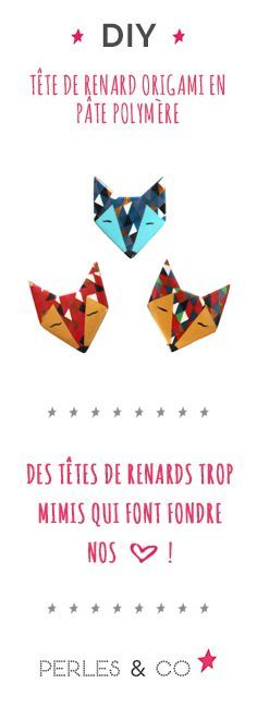 Photo of DIY tête de renard origami en pâte polymère