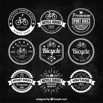 Badge Vectors Photos And Psd Files Free Download Bike Logo Vintage Logo Retro Bike