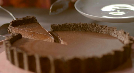 Salted Chocolate Tart Episode Simply Nigella Bbc Two