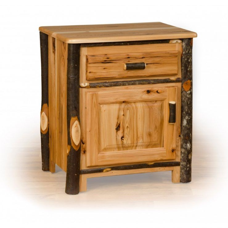 Small Rustic Nightstands For Bed Side With Drawers