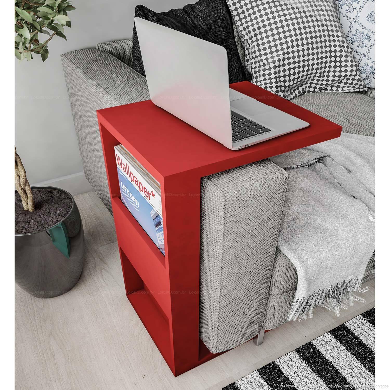 Compre Armário Classic Líder Design Vermelho: Mesa De Apoio Para Notebook Book Vermelho