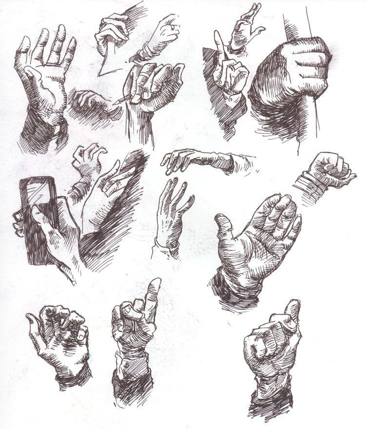 How to get Better at Drawing Hands Drawings, How to draw