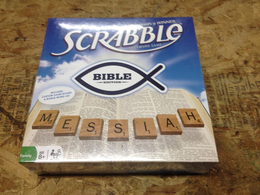 NEW! Scrabble board game BIBLE edition FAMILY crossword