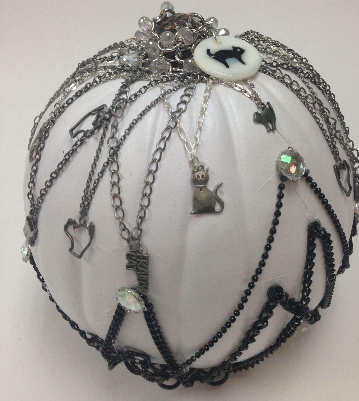 Jewelry pumpkin diy for a creative halloween decor idea