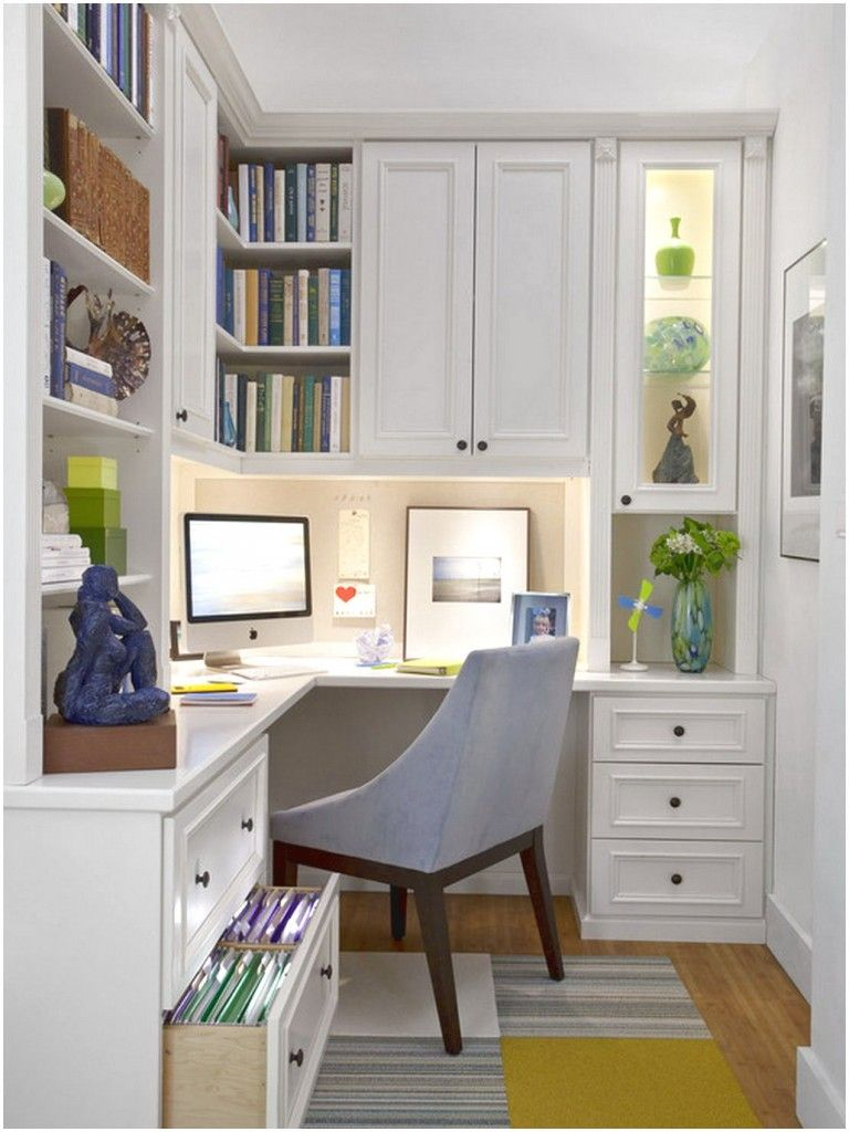 Built In Office Cabinets Designs Ideas And Other Furniture For Home Office With A Decor That Has Whit Small Home Offices Home Office Layouts Home Office Design