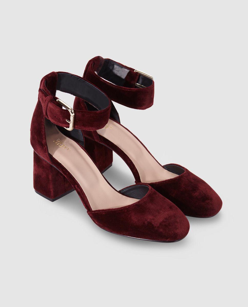 Terciopelo Mujer Red En Salón Color Zapatos De Valentino ikOPXZuT