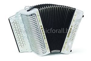 NEW Hohner Corona II Classic White 3523 Key GCF (Sol)- with FREE Gig Bag, Straps, Instructional Booklet and Corona Back Pad - Free Ship to USA - Cheap World Shipping - Made in Germany!  http://stores.ebay.com/music-for-all-03   http://www.musicforall.biz/