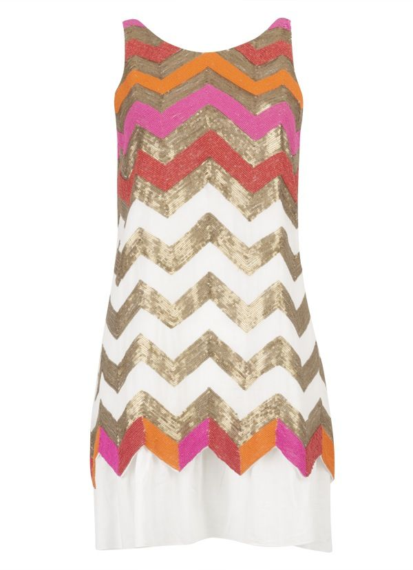 Pretty chevron shift dress