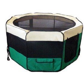 Pet Dog Play Pen Large 49` Tent Puppy Cat Exercise Pen Soft Play Yard Kennel Dog Crate Cage Zipped Bottom Panel