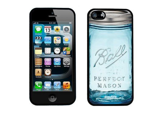 Ball Glass Jar Inspired iPhone 5 / 5s Case By Case Envy (Hard Silicone Rubber Case)