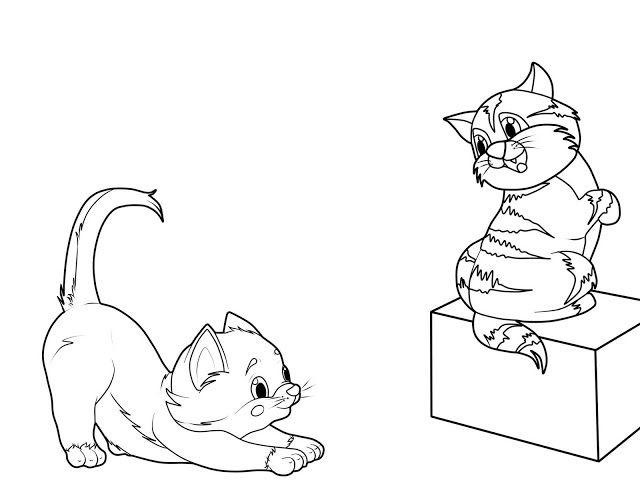 katzenbilder zum ausmalen  ausmalbilder katzenbilder