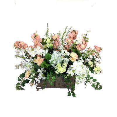 Winward Silks French Mixed Bouquet Planter