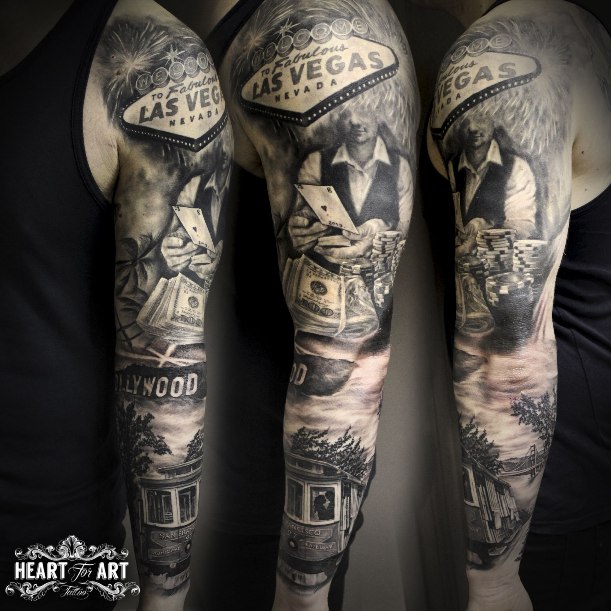 Us Sleeve Vegas Hollywood Tatuaż Rękaw Pinterest Vegas