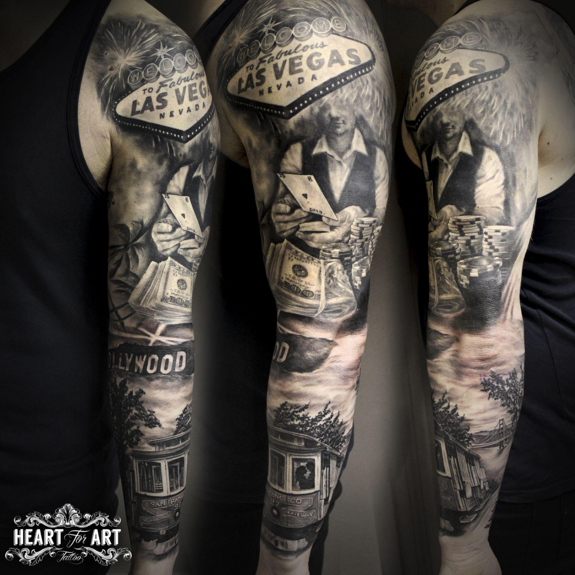 us sleeve vegas hollywood tatua r kaw pinterest tattoo vegas tattoo and tatting. Black Bedroom Furniture Sets. Home Design Ideas
