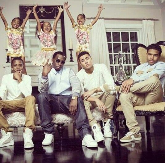P Diddy With His Children D'Lila Star, Chance, Jessie