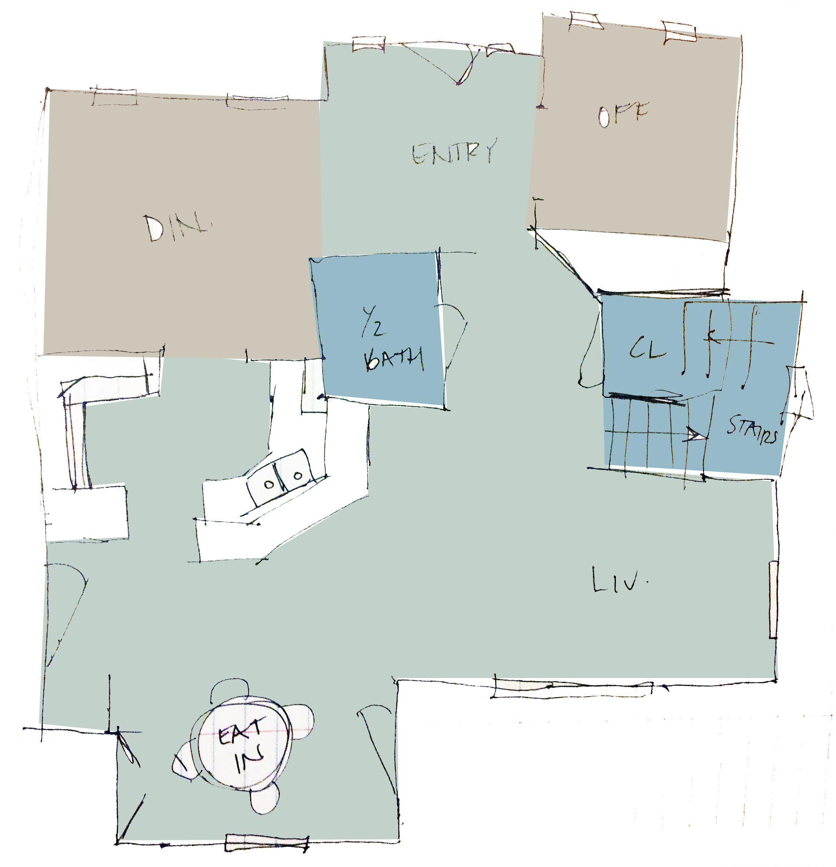 Paint plan 2 Palladian Blue (entry, living room, kitchen, breakfast ...