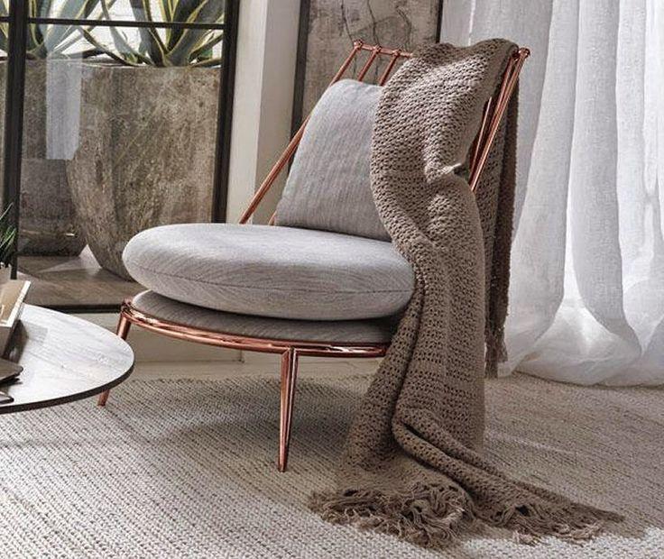 Weiss Grau Und Kupfer Master Bedroom Lassen Sie Sich Inspirieren Schoner Wohnen Wohnzimmer Wohnen Und Wohnzimmer Lounge
