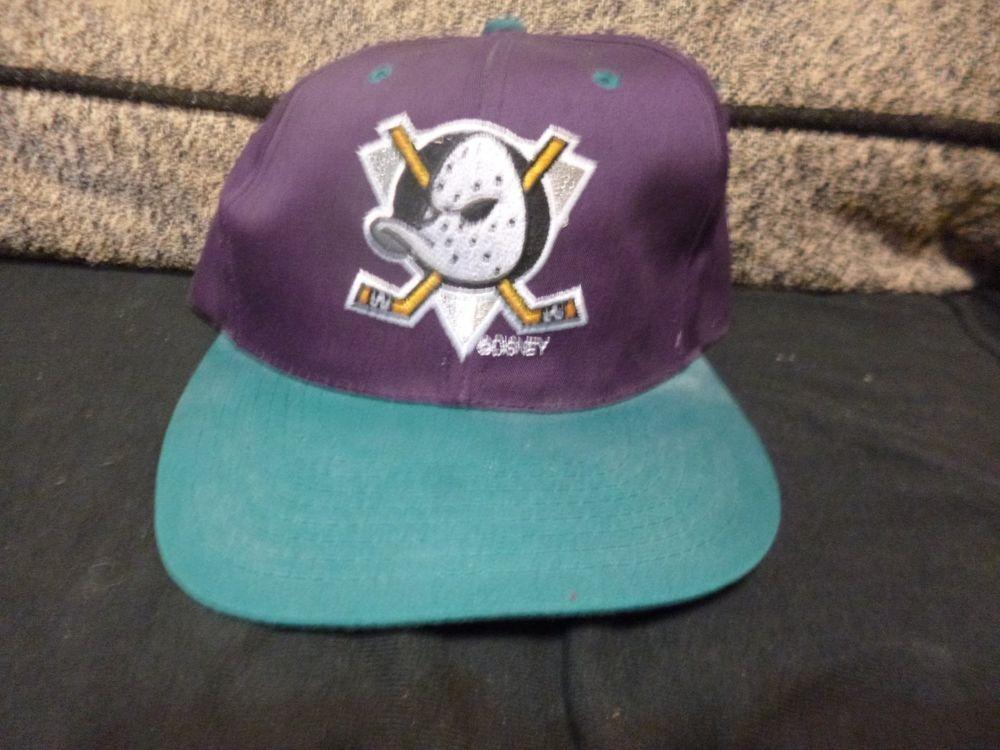 innovative design 19b0f c0ebf Vintage Anaheim Mighty Ducks Snapback Hat Cap NHL NWOT  GCap  AnaheimDucks