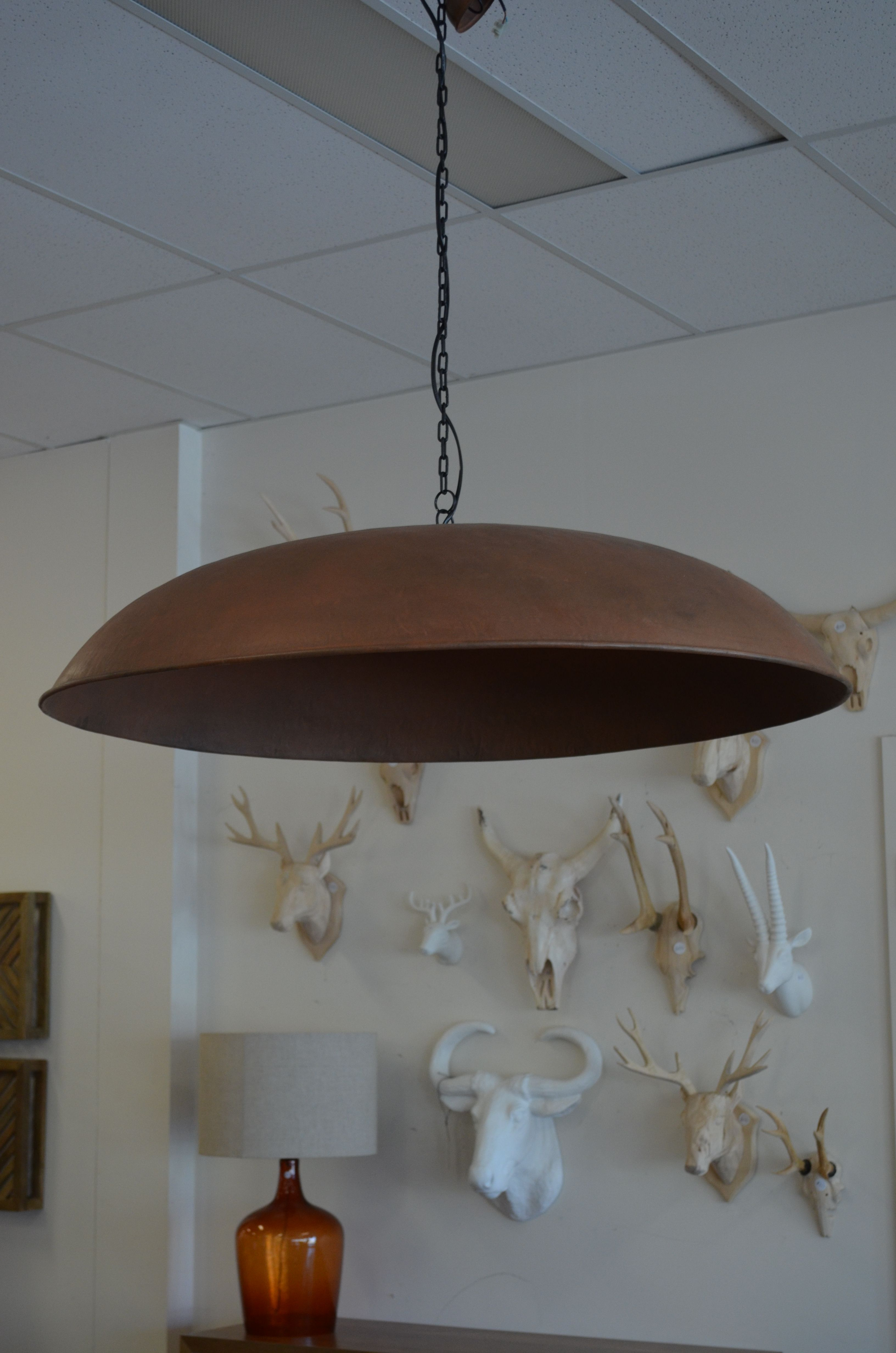 The hero piece this enormous industrial iron light shade looks