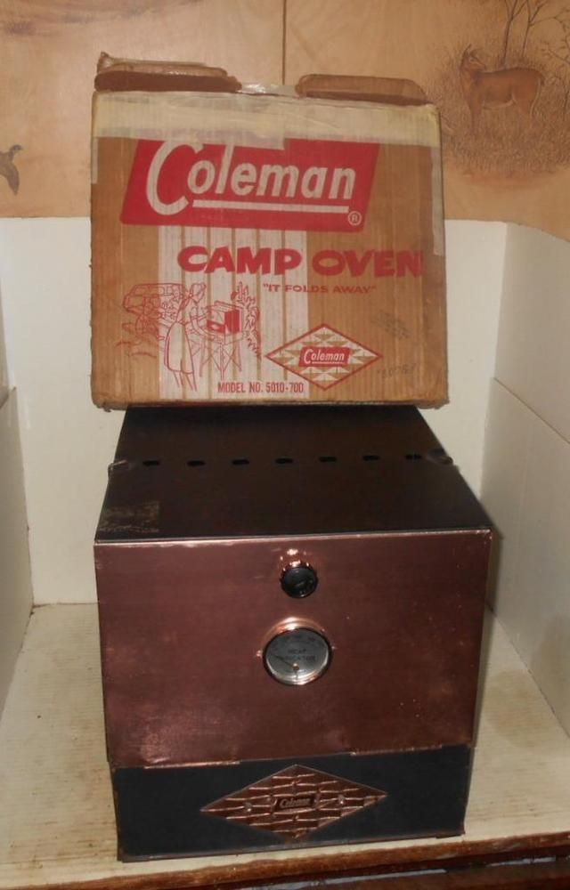VINTAGE COLEMAN DIAMOND Folding CAMP Stove OVEN 5010-700 w