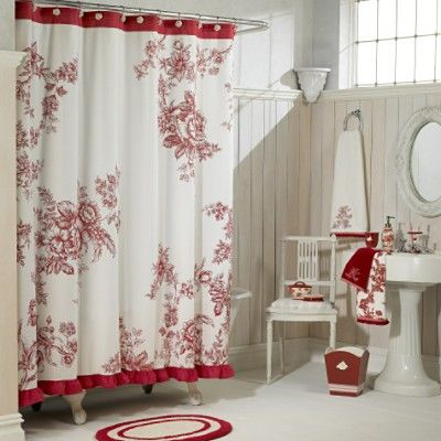 pretty Bath Colors Red and White Pinterest Country living