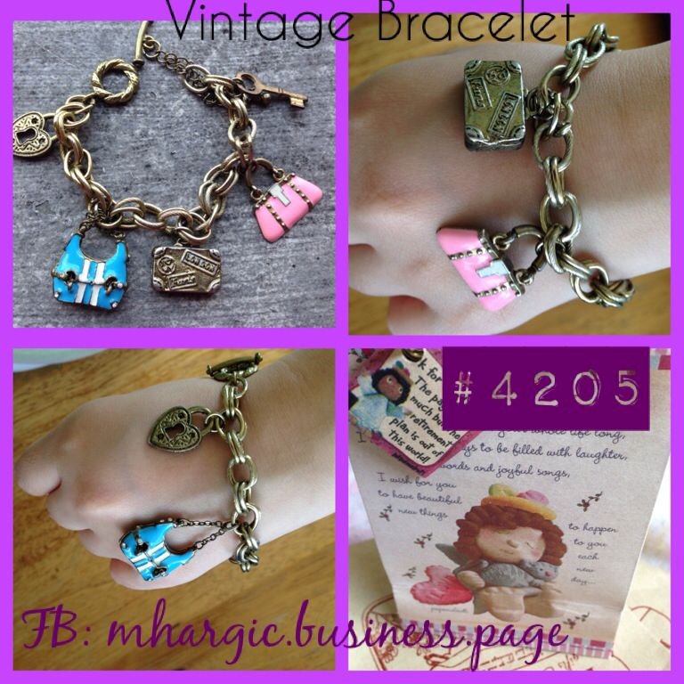 Love Travel Bracelet   Design: pink and blue bag, heart Size: Fits all Price: Php 715  SMS / Viber : +639176085762 WeChat: Mhargic8 Email: mhargic.business@gmail.com PM: www.facebook.com/mhargic.business.page   #vintagebracelet #mhargicladies #mhargicbusinesspage