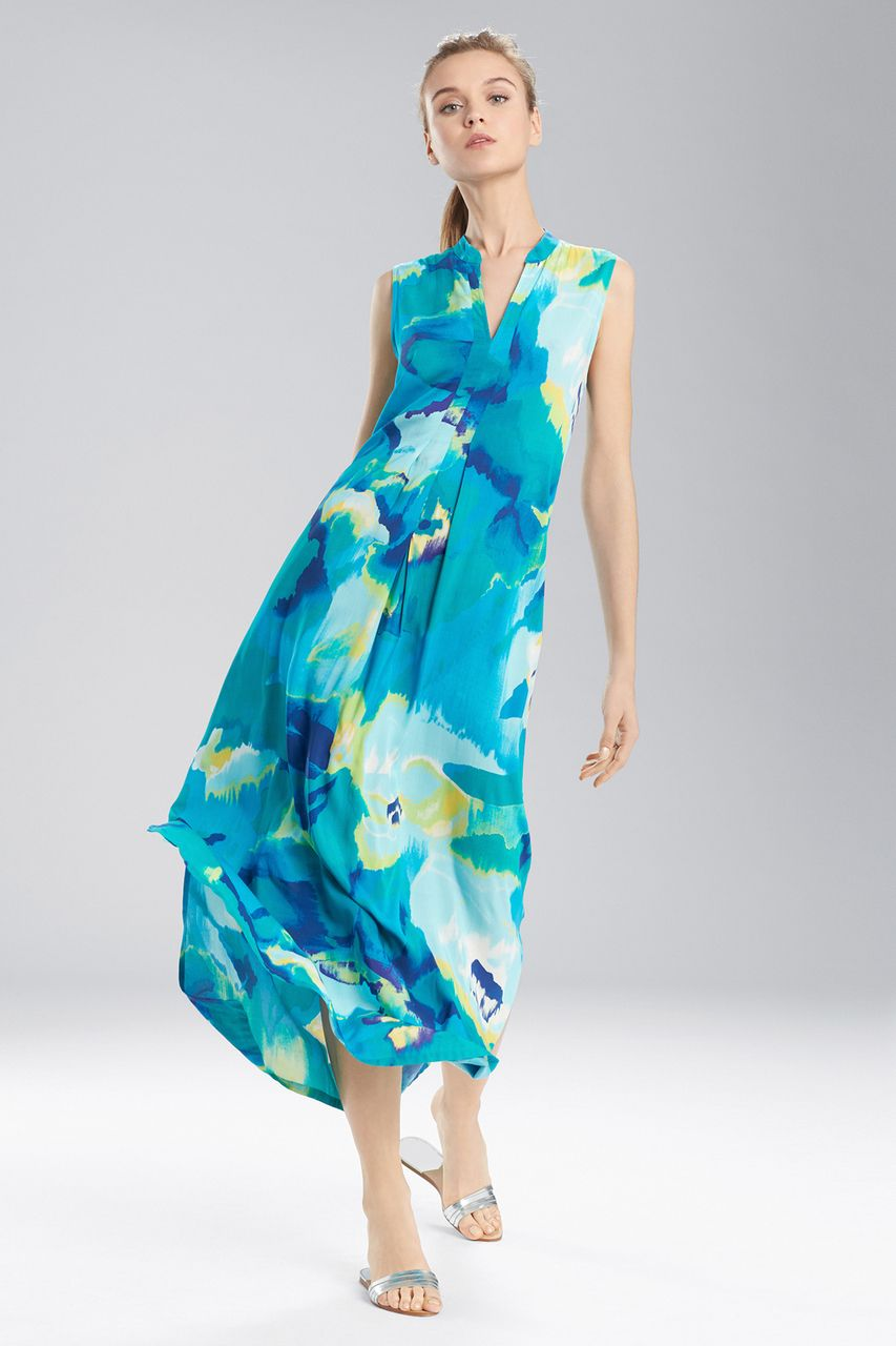 Buy n natori blooming mural maxi gown from n natori at the natori