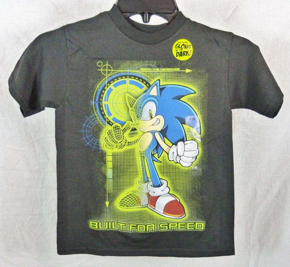 Sonic the hedgehog built for speed glows in dark black tee t shirt sonic the hedgehog built for speed glows in dark black tee t shirt sz 4 periodic tablesonic gamestrikefo Image collections