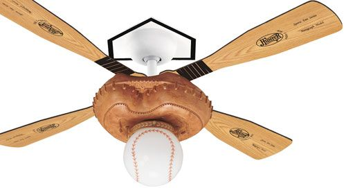 Baseball Bat Ball And Glove Ceiling Fan Perfect For Boy Or Tomboys Room