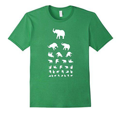 2299 Tumbling Elephants Snellen Eye Chart T Shirt Available In Men
