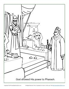 God Showed His Power To Pharaoh Coloring Page Bible Coloring