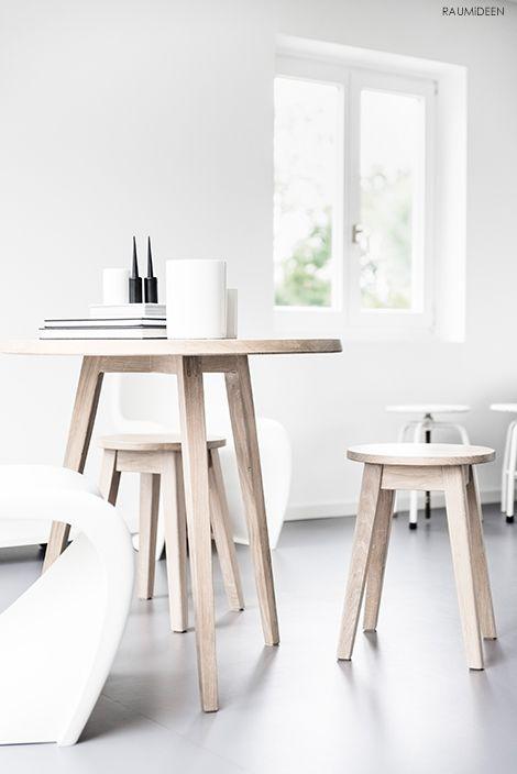 Massivholzmöbel Für Kleine Räume: Bistrotisch Und Hocker