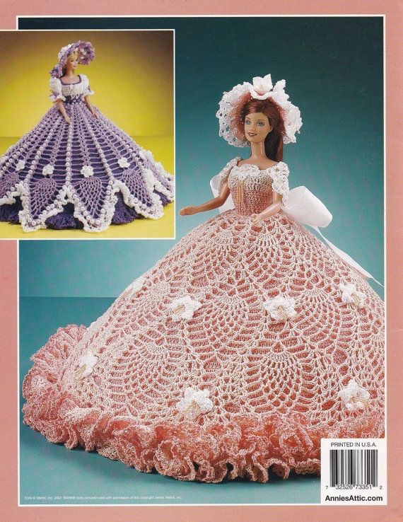 Beaded Pineapple Gowns, Annie\'s Attic Crochet Fashion Doll Clothes ...