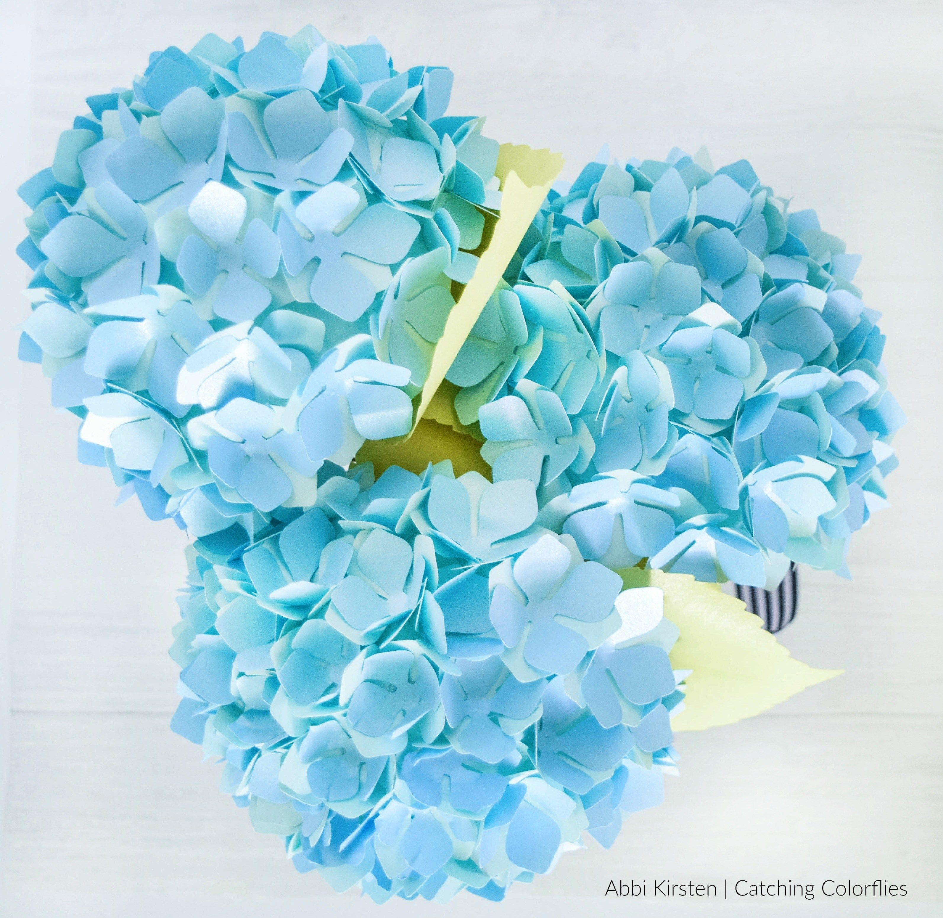 Diy Paper Hydrangea Flowers Templates And Tutorial Paper Flowers Paper Flower Tutorial Paper Flower Template