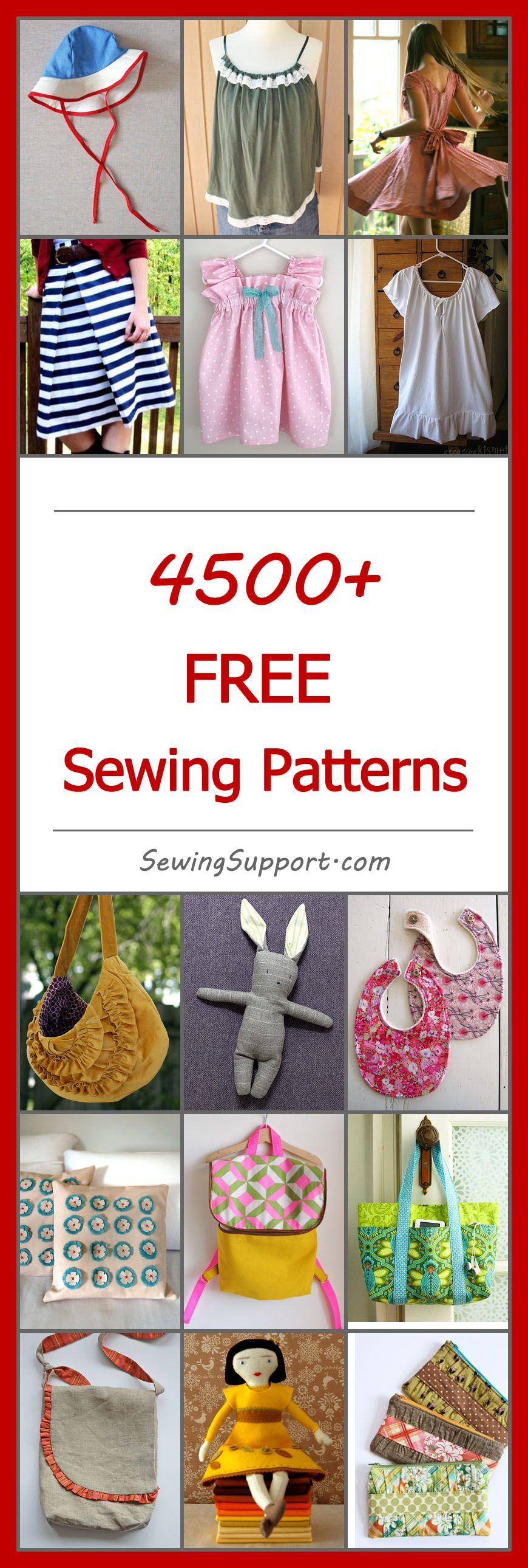 4500 free sewing patterns easy sewing projects and sewing patterns categorized for easy browsing no registration required baby knitting patternssewing patterns free jeuxipadfo Gallery