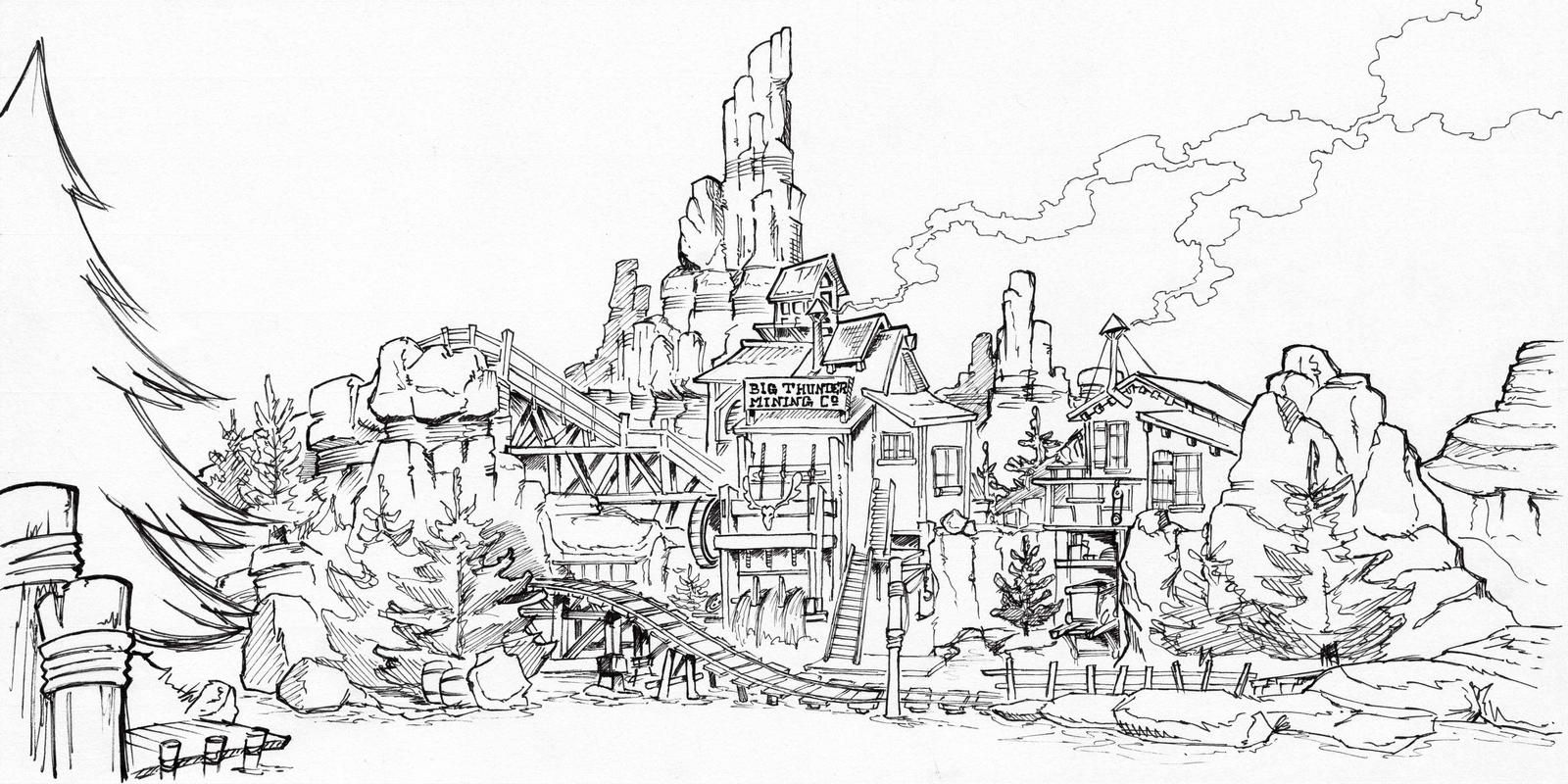 Big Thunder Mountain By Kaloo86 On Deviantart In 2021 Disney Coloring Pages Free Disney Coloring Pages Coloring Pages
