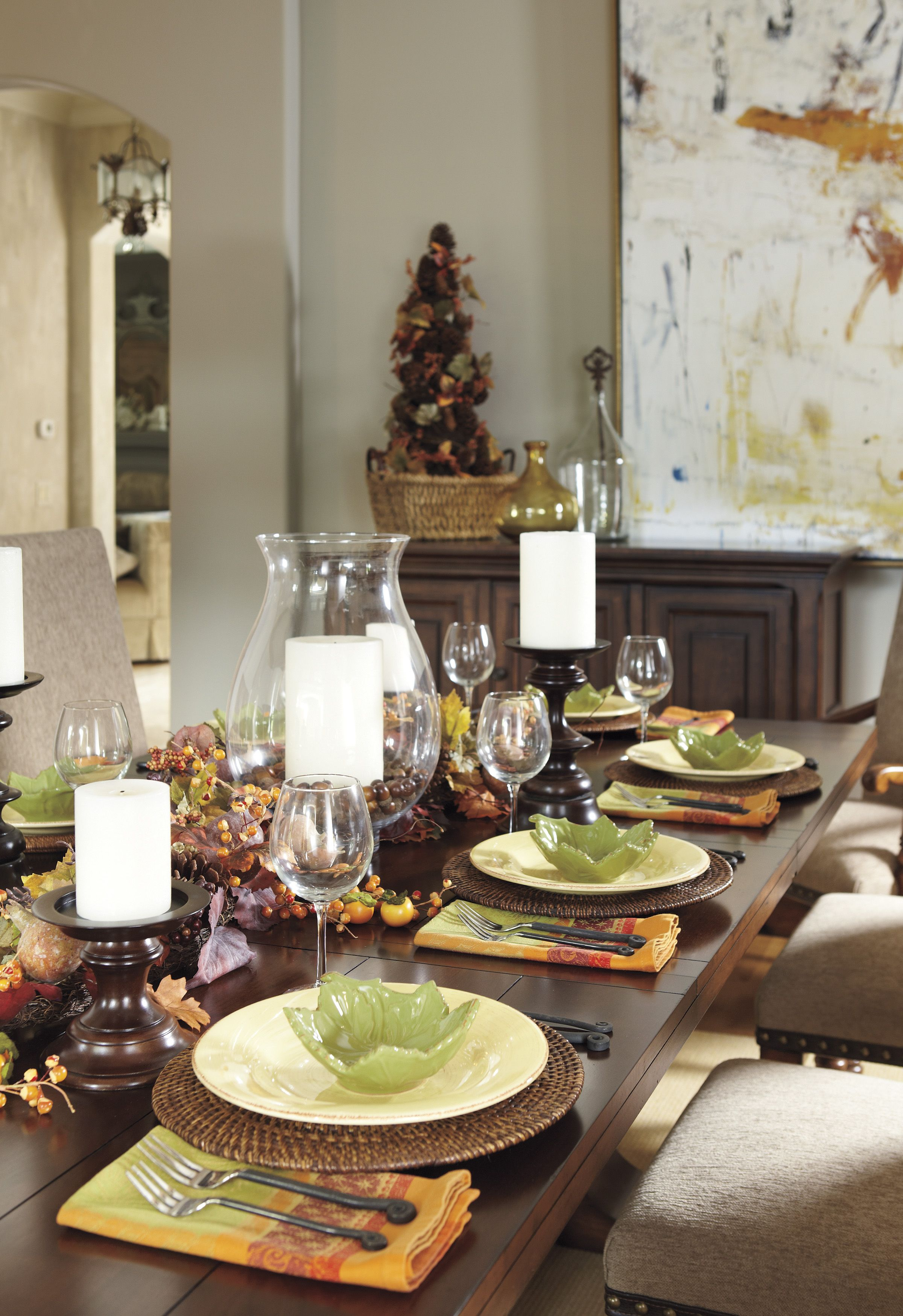 Hues Of Brown And Orange Make Decorative Table Lighting