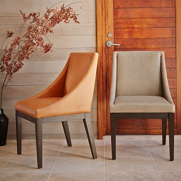 Leather Dining Room Chairs In Elephant West Elm Dining Room