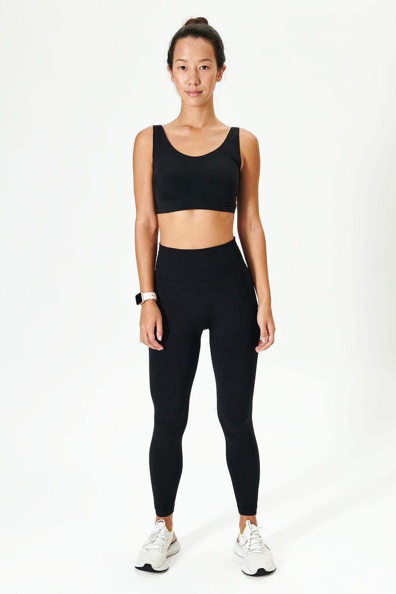 Download Download Premium Image Of Asian Woman In Black Activewear Mockup 2463659 Clothing Mockup Black Activewear Asian Woman