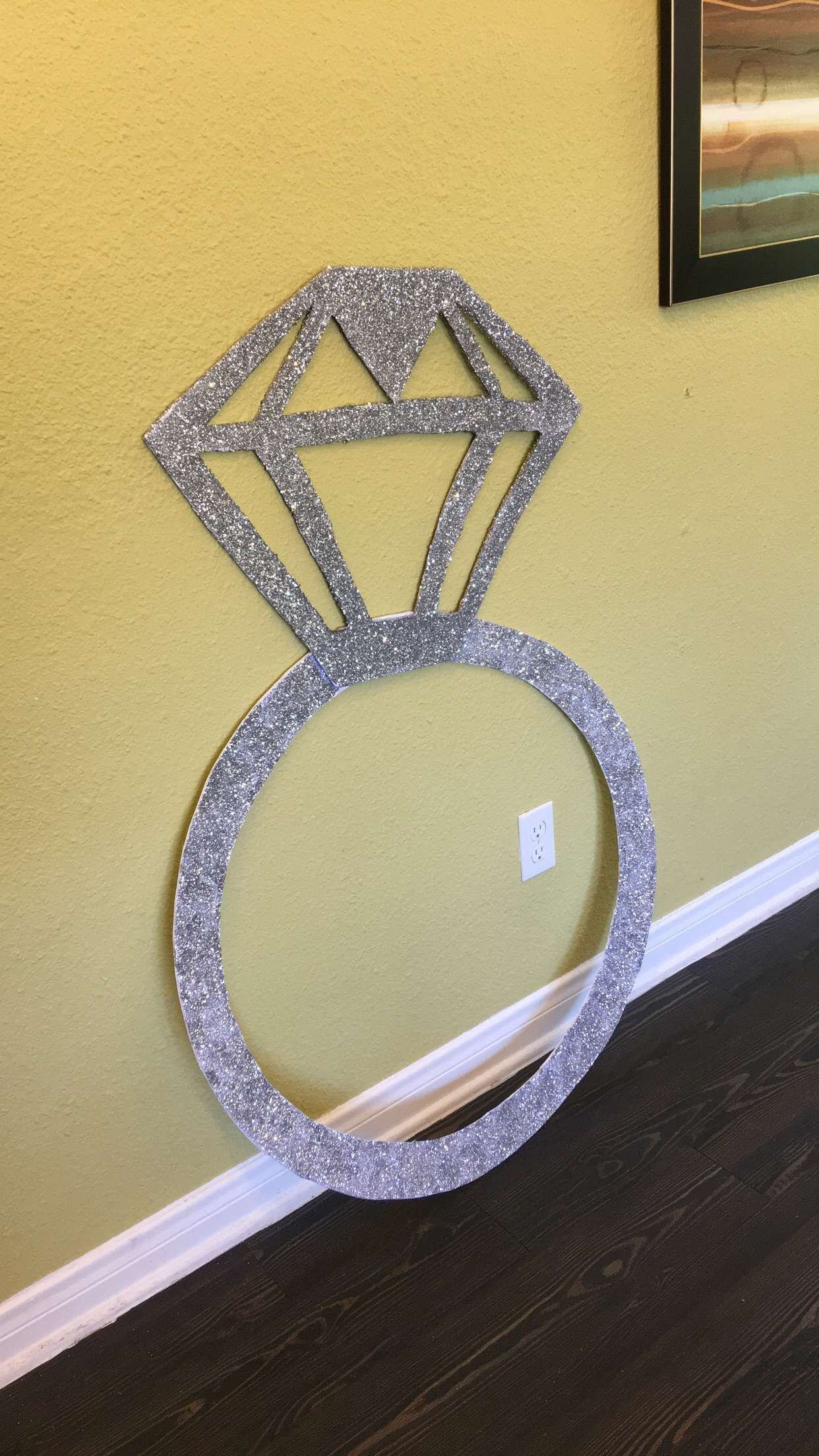 Diy Giant Diamond Ring Photo Frame Prop In 2019