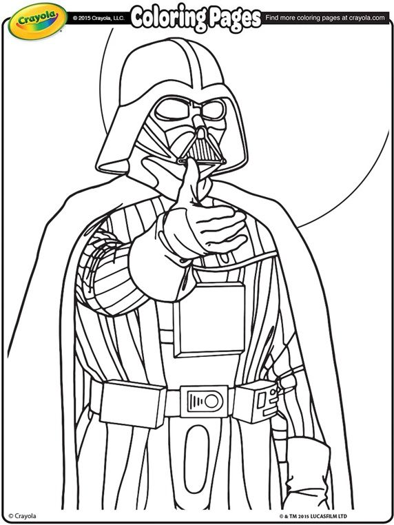 Free star wars crayola coloring pages darth vader may the be with you