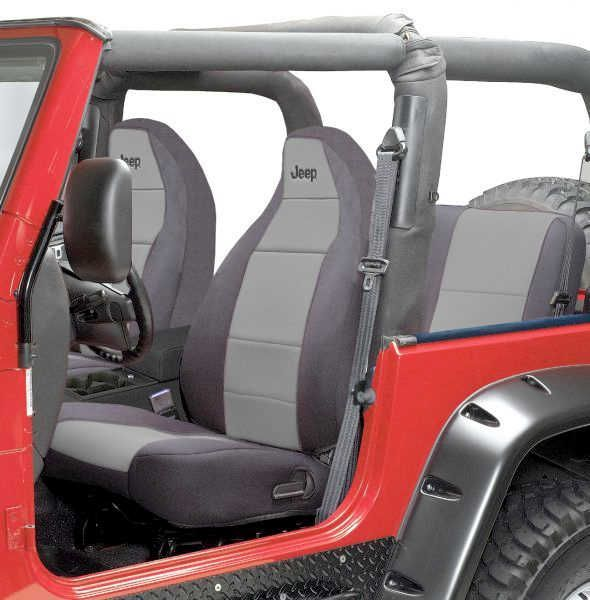 Coverking Front Seat Covers With Jeep Logo With Rear Cover For 92