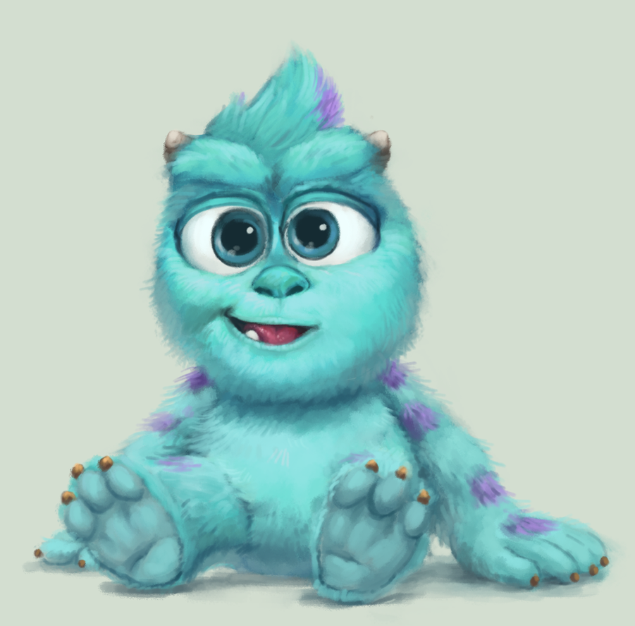 Baby Sulley By 11odyssey On Deviantart Disney Drawings Monsters Inc Characters Disney Art