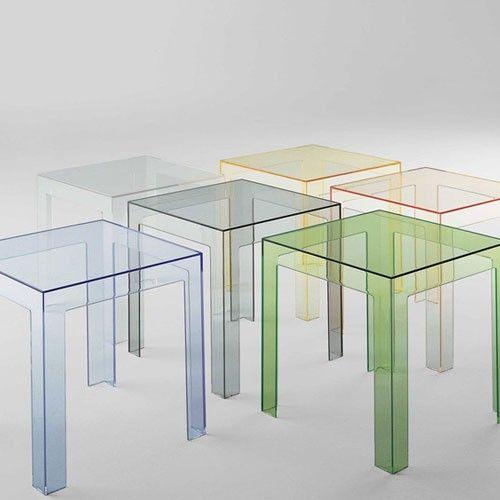 Table Basse Jolly De Kartell Transparent Cristal Concrete
